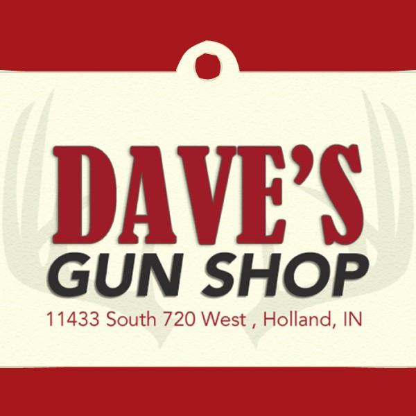 Dave's Gun Shop logo.